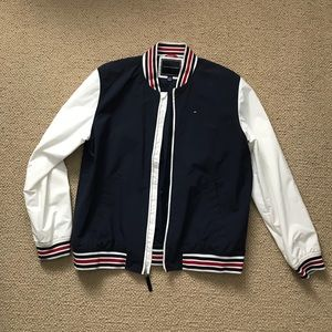 Tommy Hilfiger Red White and Blue Bomber Jacket